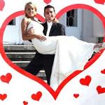 Hochzeit Herz zum Ausschneiden